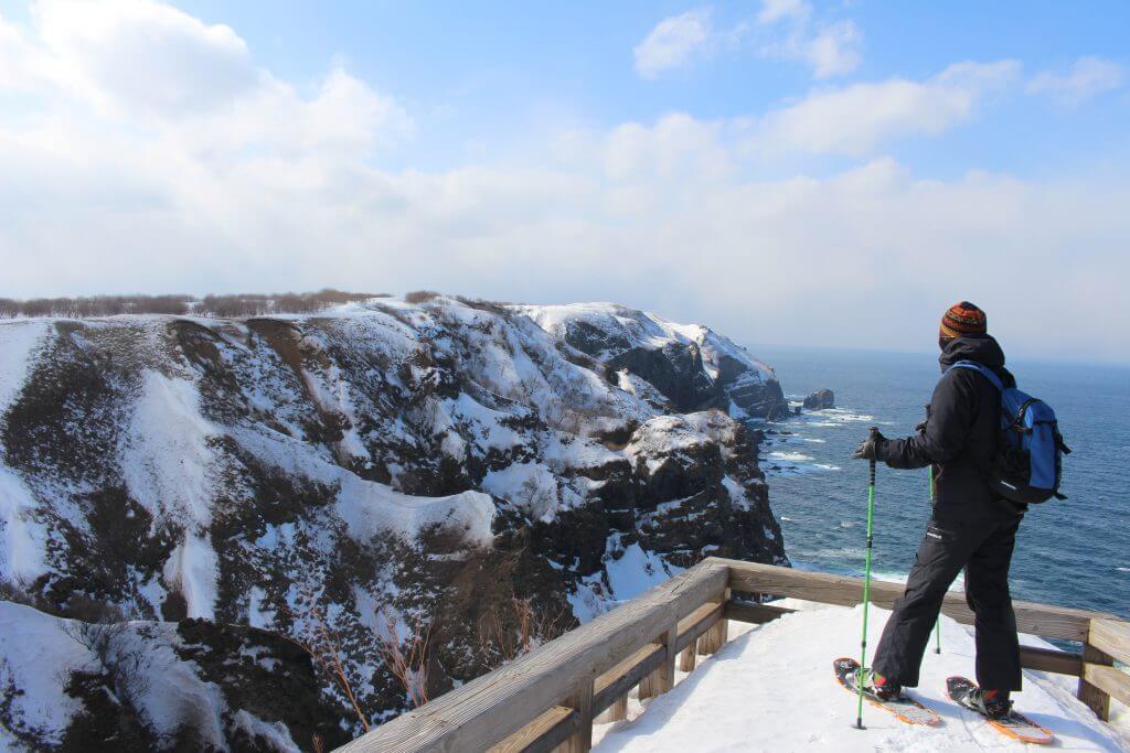 冬の観音岬展望台