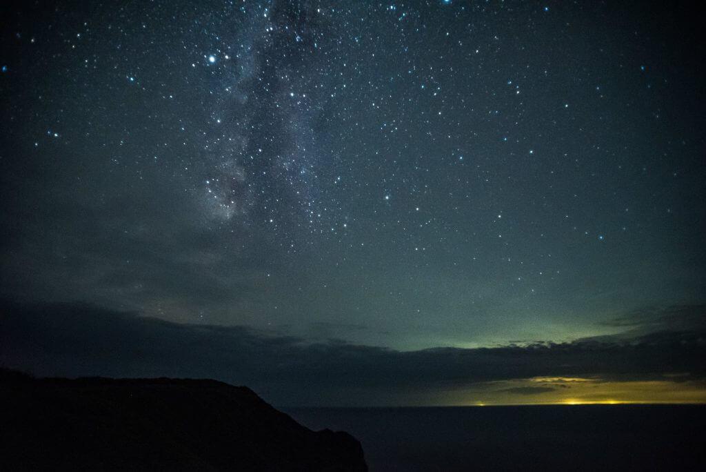 一面の星空