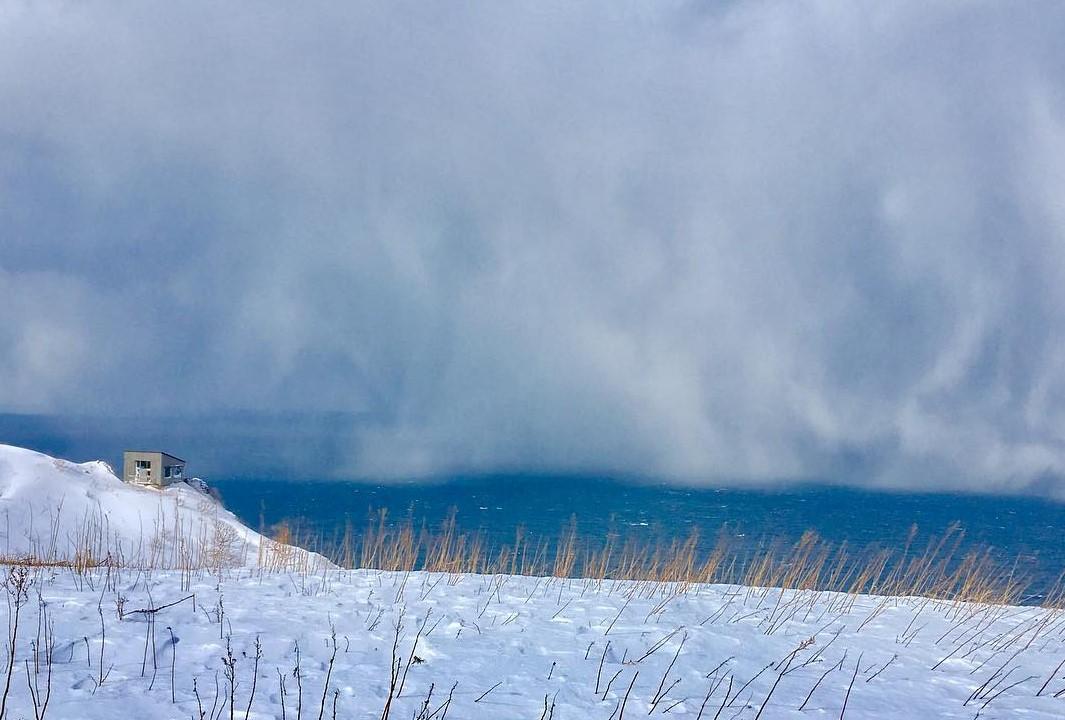 天売島の冬の写真