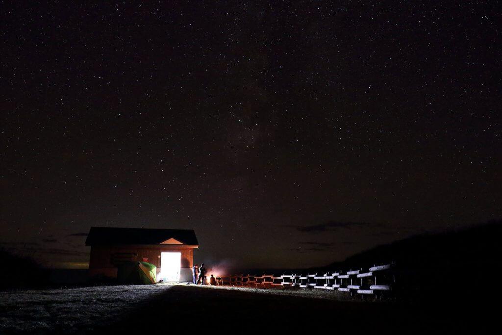 満天の星空がある白浜野営場