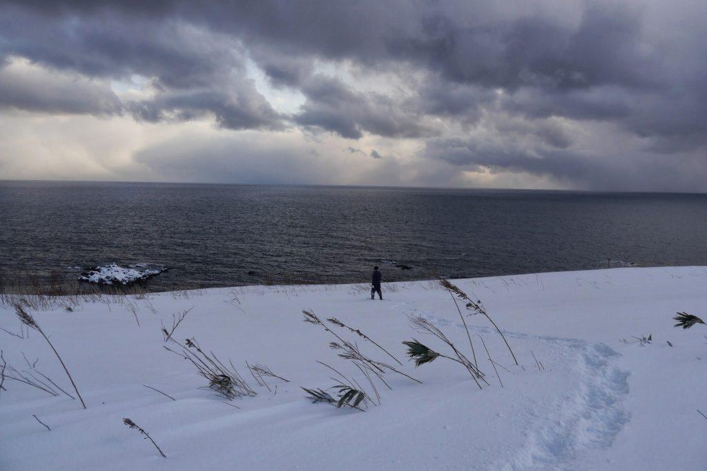 冬のアートを望む